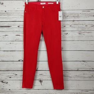 GUESS Coated Skinny Jeans 30 Coated Lipstick Red